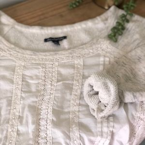 American Eagle Cropped French Terry Sweatshirt